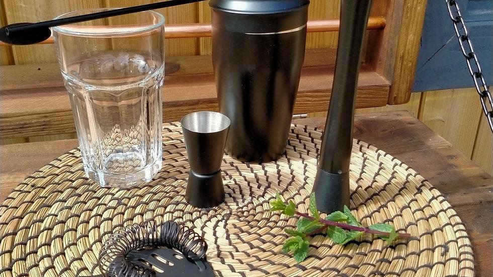 Bar Cocktail Set Accessories Drink Shaker Set Matte Black