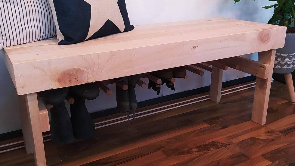 Welly Storage Bench Outdoor Wooden Rack Shoe Holder Pallet Wood