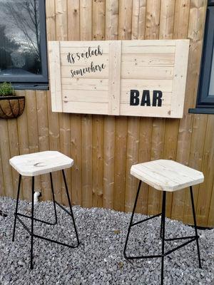 Open Back Bar & Stools