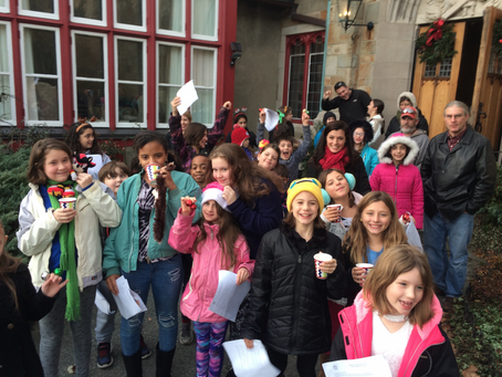 Caroling with the Newport County Youth Chorus