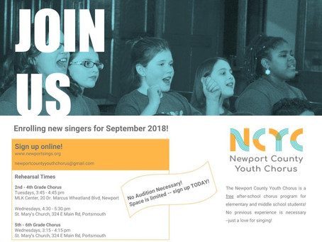 Kids sing! NCYC offers free choral music education in Newport County