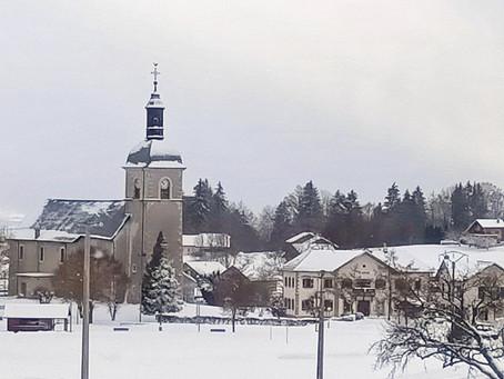 La neige à Thollon