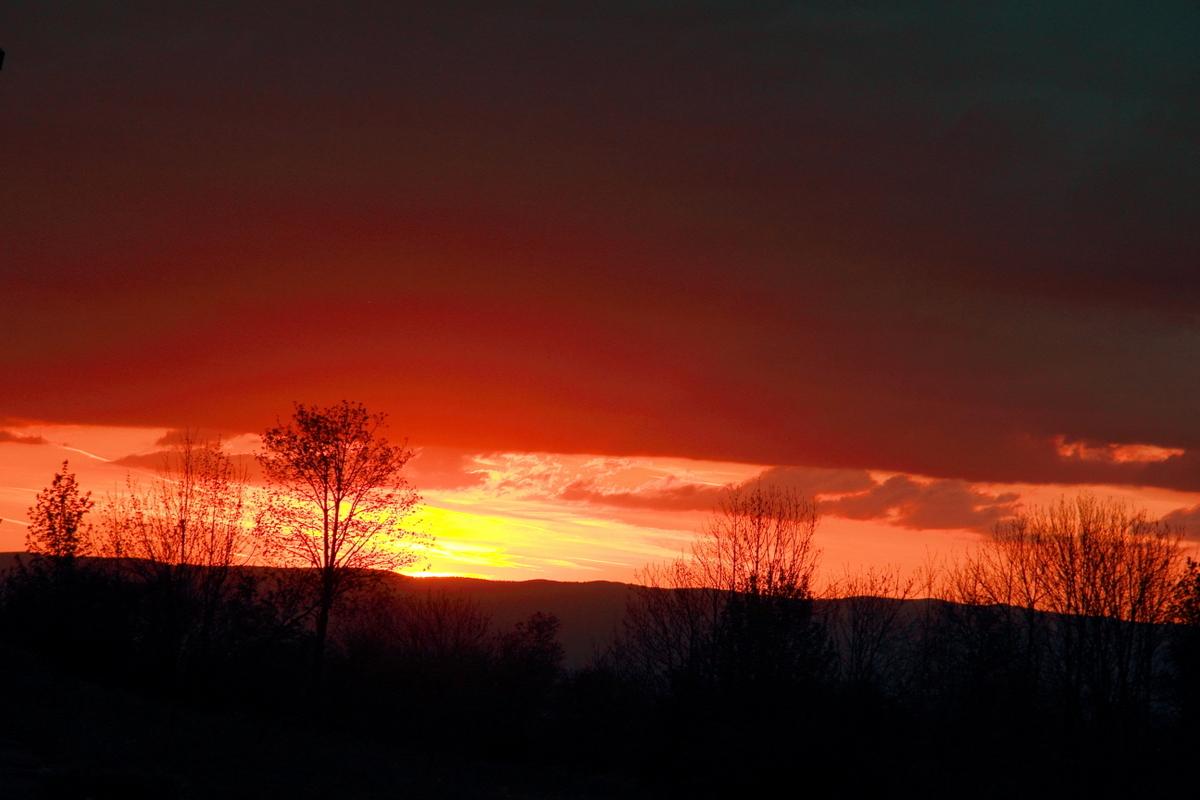 coucher de soleil aux Arolles