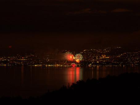 fête nationale suisse vue depuis Thollon