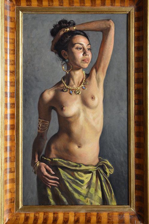 """""""Tiferet"""" 5Ox90cm Oil painting.2019 . Framed. Original artwork"""