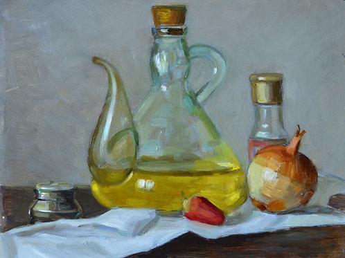 """Still life study"" 25X30CM 2020 Original oil painting."