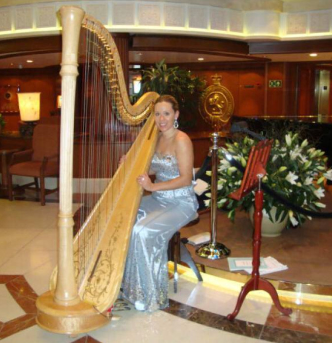 Bethan and Harp on Cruise Ship