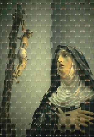 santa rita mit jesus am kreuz matera