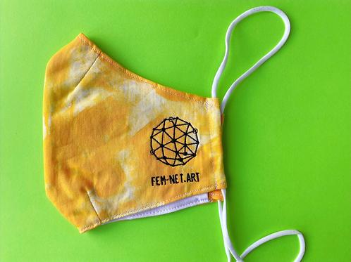 Maske Logo gelb