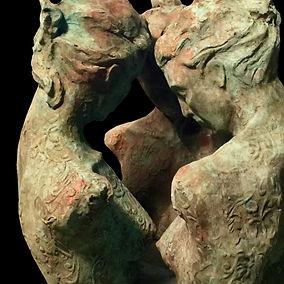 Vertrautheit Skulptur von Annemarie Waib