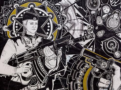 """""""Justice: Russian Roulette"""" (2020) von Sophie Schwarz"""