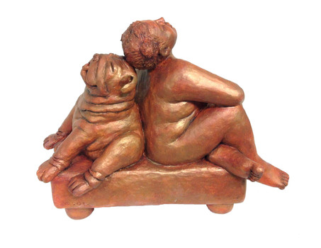 Frau mit Bulldogge (2012)