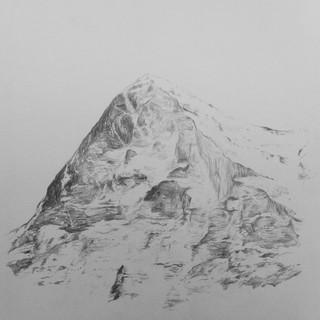 Zeichnung auf Papier,  15 x 15 cm