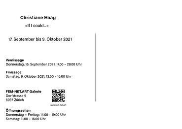 Christiane Haag Flyer