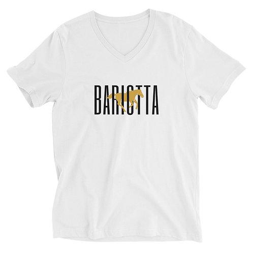 Bariotta Logo Unisex V-Neck T-Shirt