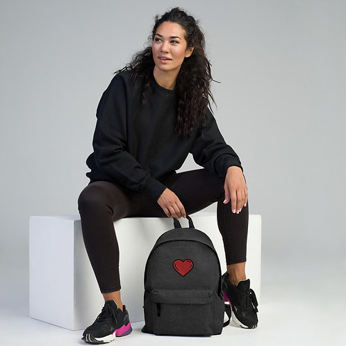HERZ Embroidered Backpack