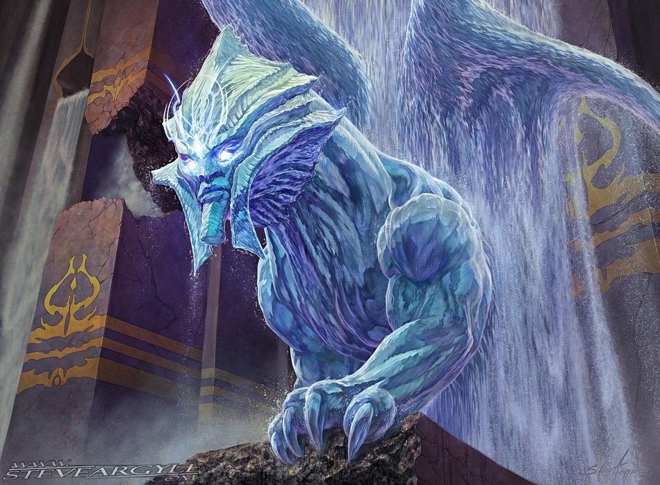 Riddleform, for Magic the Gathering.  Artwork by Steve Argyle