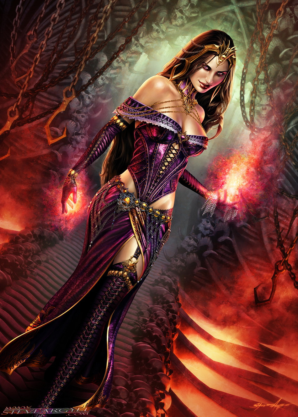 Liliana of the Veil, for Magic the Gathering.  Artwork by Steve Argyle