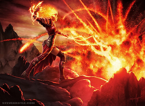 Flames of the Firebrand, Large Print