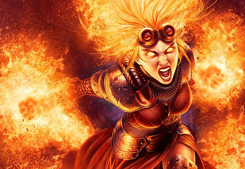 Chandra Ablaze, Large Print