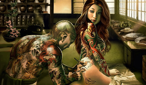 Tattoos and Trinkets Playmat