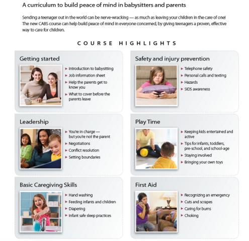 Babysitting training classes in Vancouver, WA