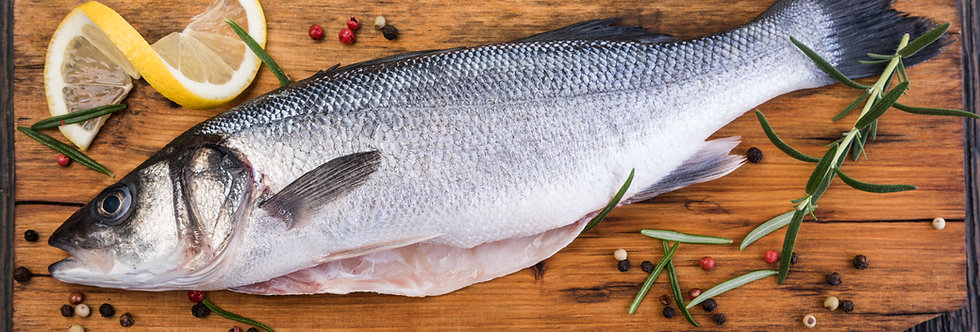 Sea Bass Whole Farmed - Fresh