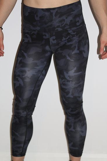 Camo  Leggings Large Blue