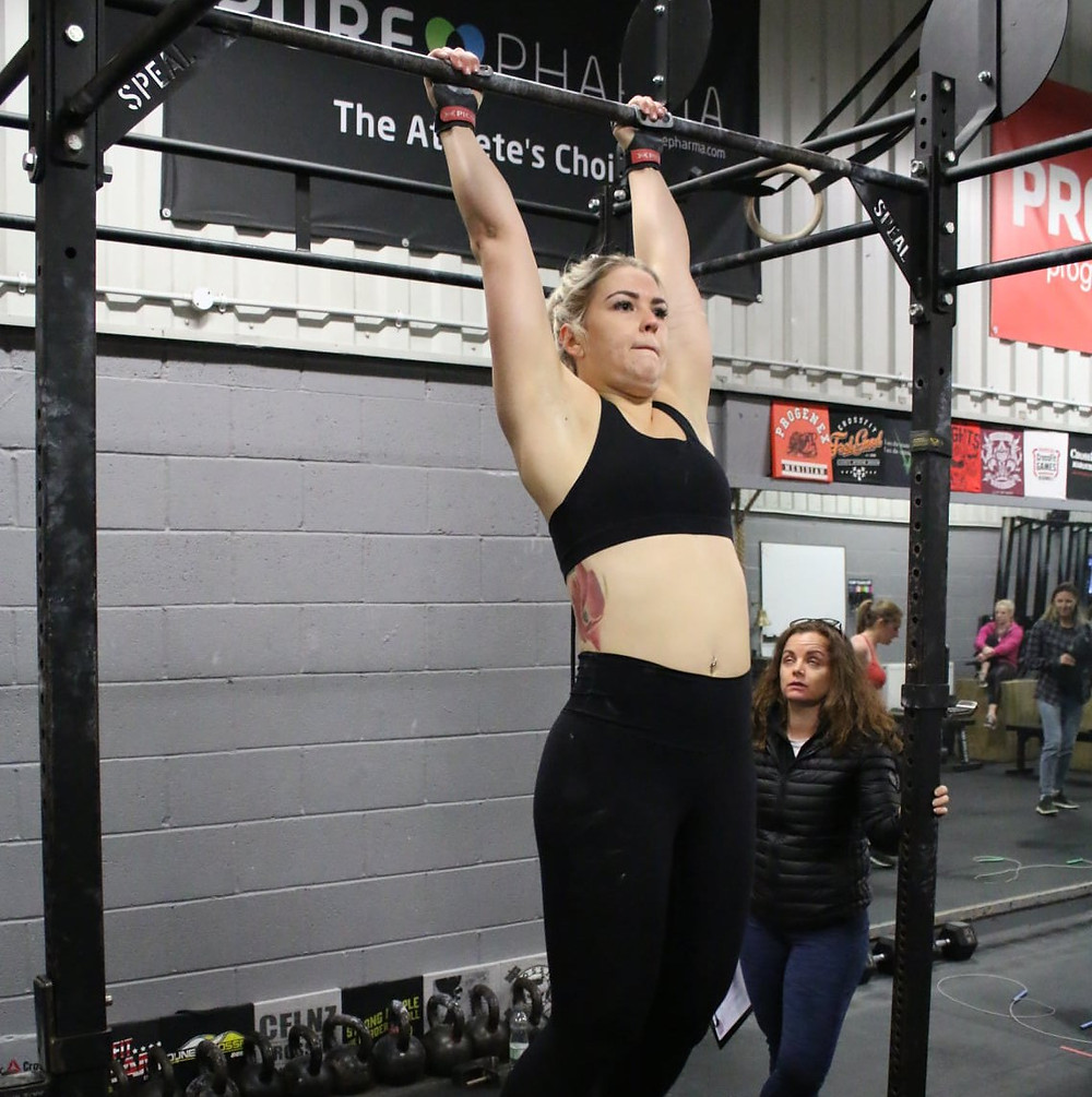 Lottie during the CrossFit Open