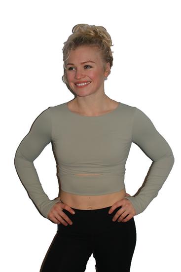 Joanna Long Sleeve Crop Top