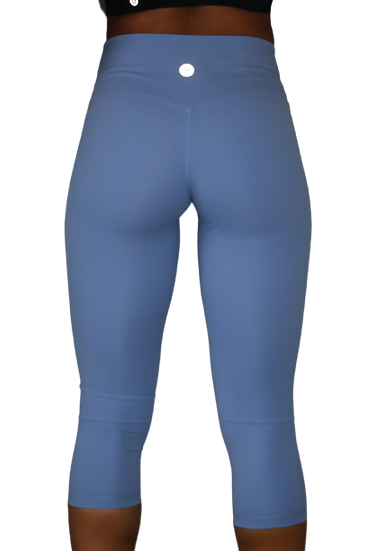 High Waist Capri leggings Baby Blue