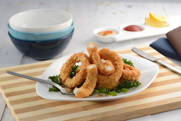 Panko Crumb Squid Rings - Frozen