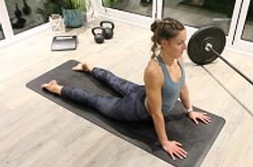 Untamed Girl in Yoga Studio