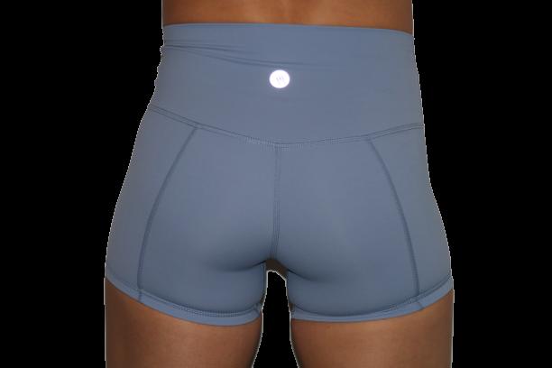 High Waist Shorts 3 inch Sky Blue