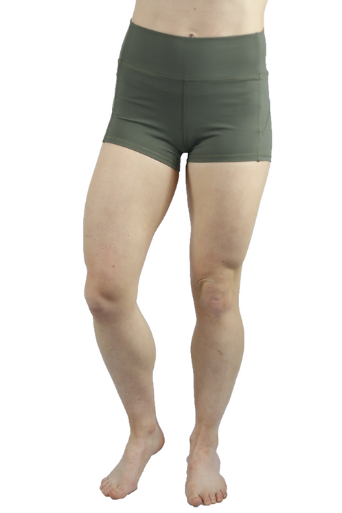 Root Booty Shorts Forrest Green