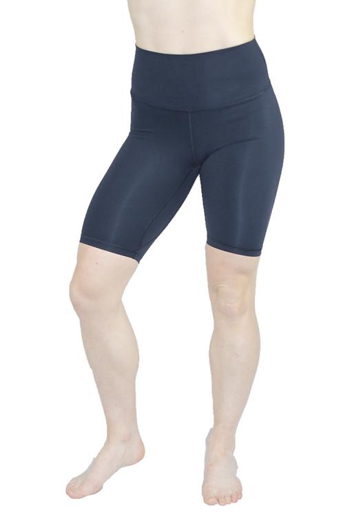 High Waist 8 inch shorts black