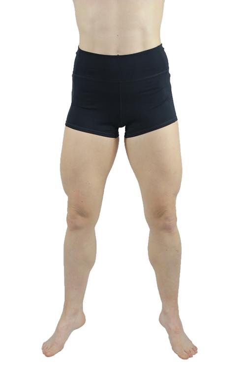 Root Booty Shorts Black Night