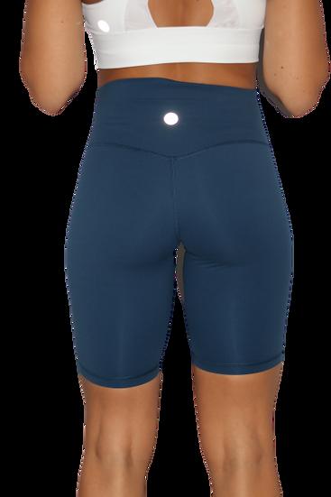 High Waist 8 inch shorts Royal