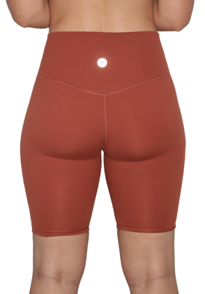 High Waist 8 inch shorts Red