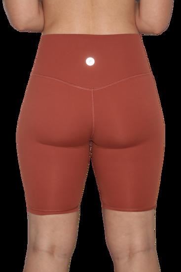 High Waist 8 inch shorts Red