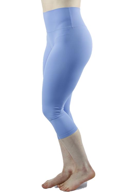 High Waist Seamless 3/4 Leggings Light Blue