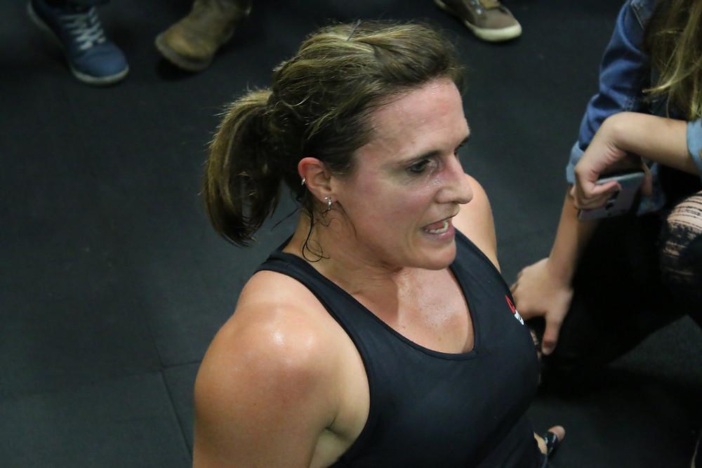 Kelly post CrossFit Open workout.