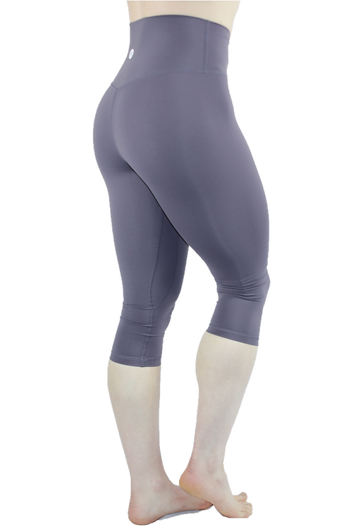 Capri High Rise Leggings Purple