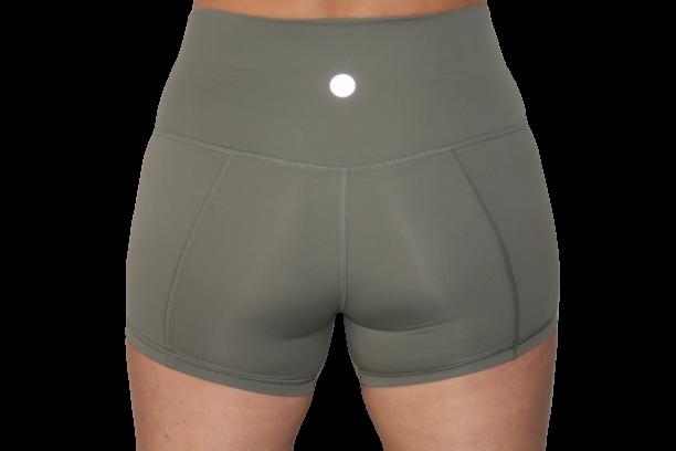 High Waist Shorts 3inch Forest Green