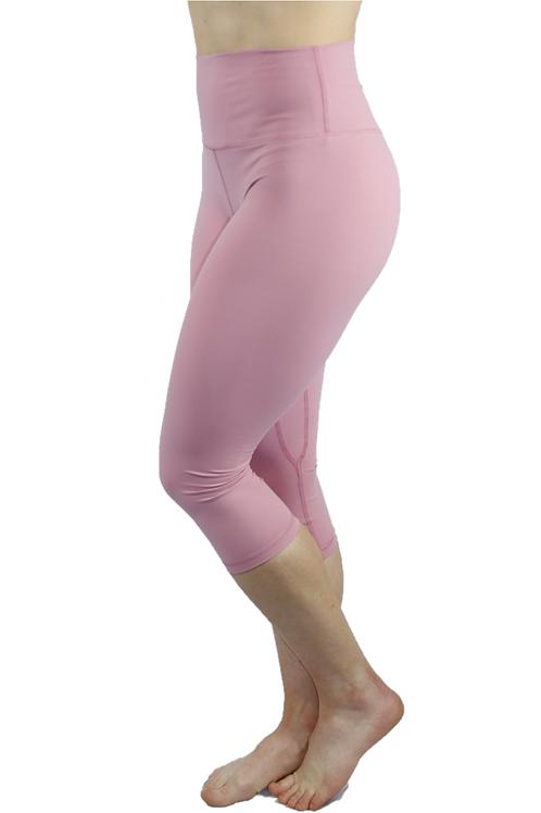 Capri High Rise Leggings Pink