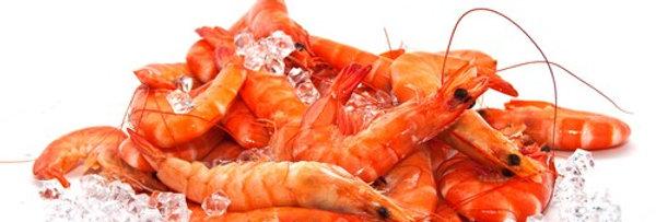Whole Cooked Crevettes - Frozen