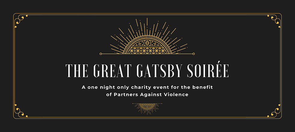 Copy of Black & Gold Ornate Gatsby 50th