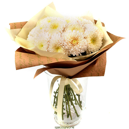 букет из 17 хризантем