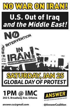 Jan 25. Global Day of Protest - No War with Iran!