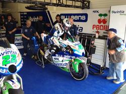 Ivan Silva exiting the garage